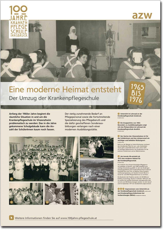 """Plakat """"Eine moderne Heimat entsteht"""" aus der Ausstellung zu 100 Jahre Krankenpflegeschule Innsbruck"""