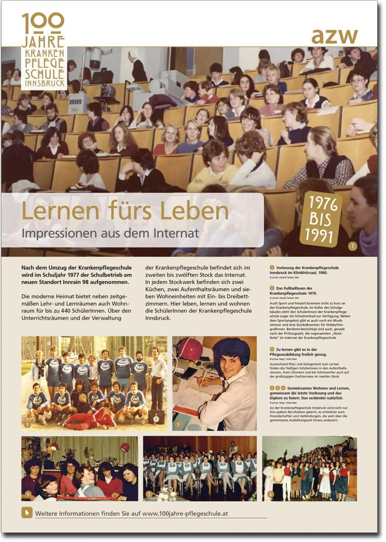 """Plakat """"Lernen fürs Leben"""" aus der Ausstellung zu 100 Jahre Krankenpflegeschule Innsbruck"""